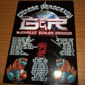 GUNS N' ROSES CHINESE DEMOCRACY TOUR 2002 SIGN